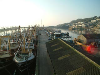view of Newlyn Harbour
